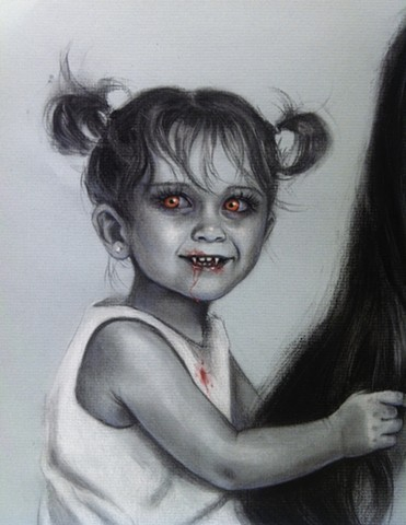 Aimee kuester vampire children portrait commission art artist la dark bloody morbid thirty Nosferatu