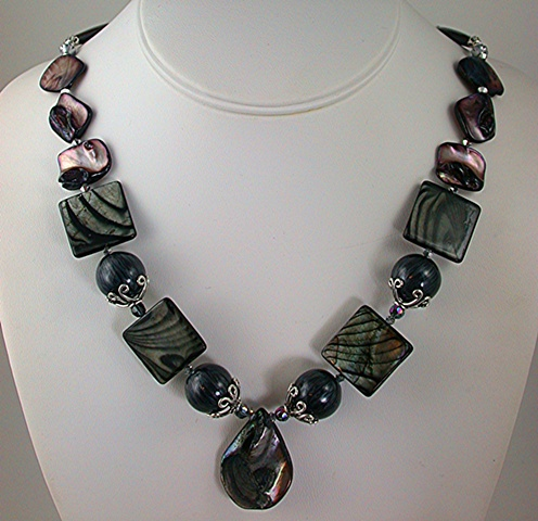 Zebra Shell Necklace