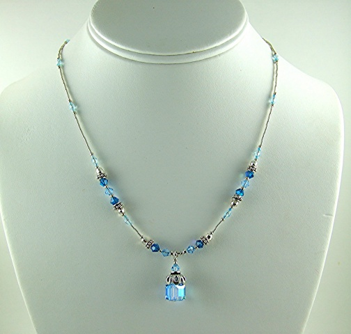 Blue Crystal Dangle