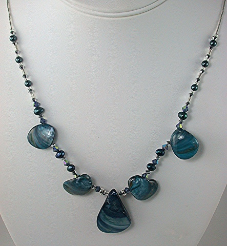 Shell & Swarovski Crystal Necklace