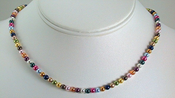 Petite Swarovski Rainbow Pearls