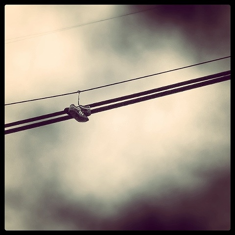 on a wire