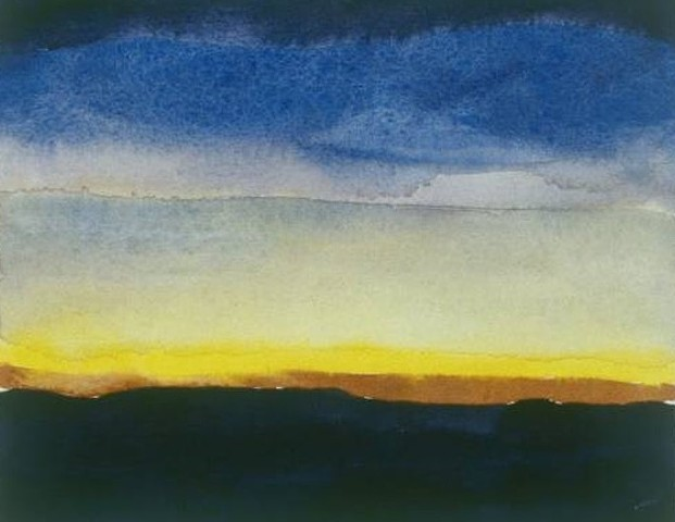 watercolor of Southwest Landscape by Laura Hampton
