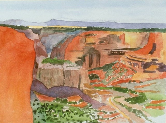 watercolor of Canyon de Chelly by Laura Hampton
