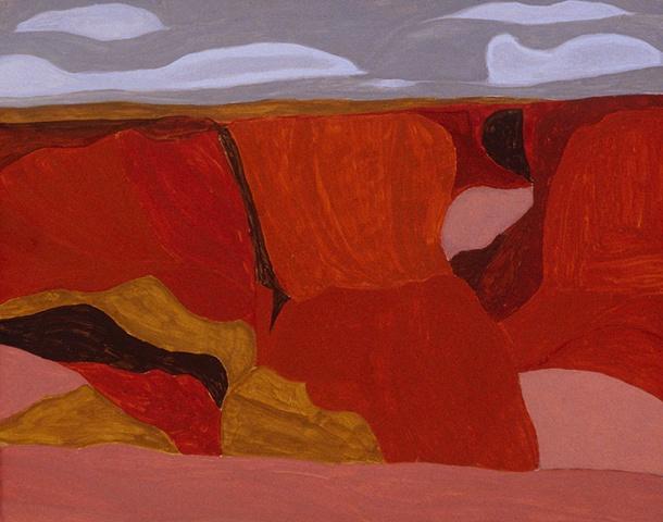 gouache on panel, Canyon de Chelly by Laura Hampton