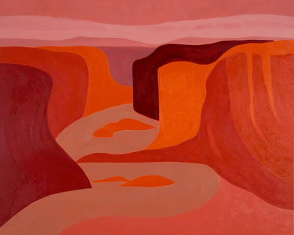oil painting of Canyon de Chelly by Laura Hampton