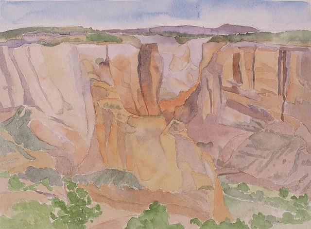 watercolor of Canyon de Chelly by Laura Hampton