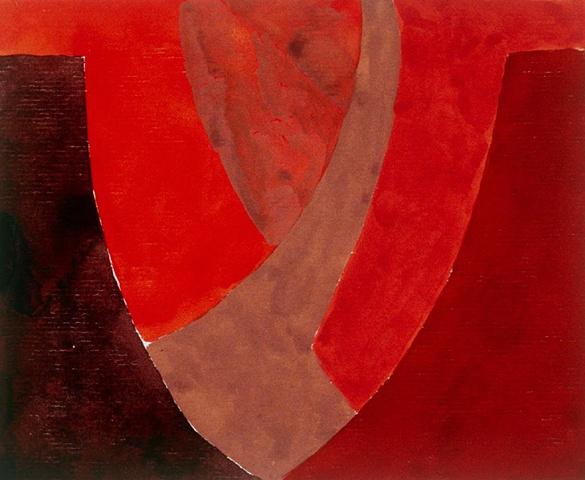 gouache on paper, Canyon de Chelly by Laura Hampton