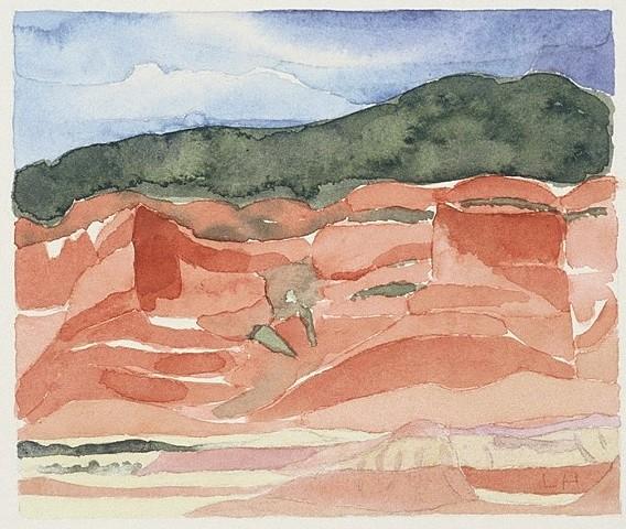 watercolor of Southwest Landscape by Laura Hampton