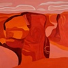 """""""Antelope Rim, Canyon del Muerto, No. V"""" (Collection of the Artist)"""