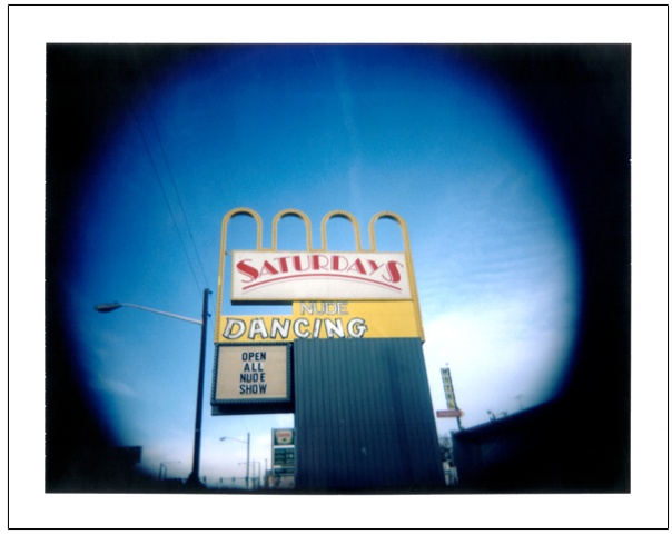 Saturdays sign colfax avenue ave denver co colorado holga holgaroid polaroid photograph