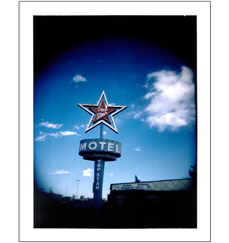 Star Motel sign Colfax Avenue Denver CO colorado polaroid Holgaroid