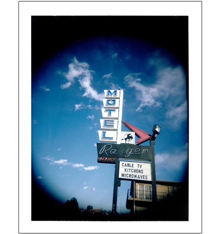 Ranger Motel sign Colfax Avenue Denver CO colorado polaroid Holgaroid