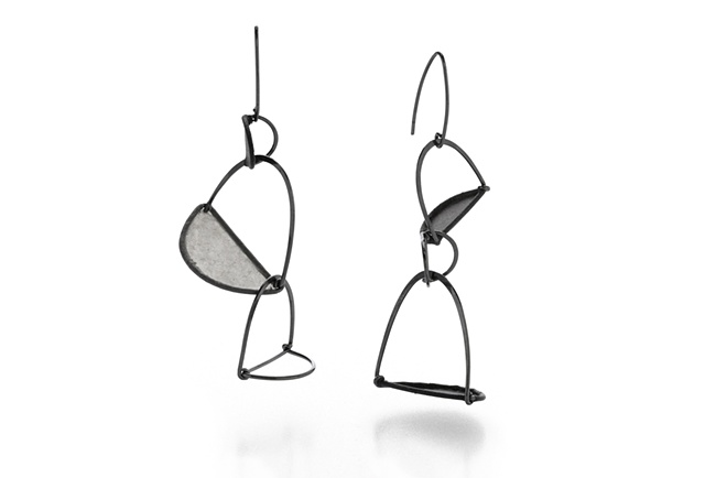 Crease Series Triple Stacked Earrings
