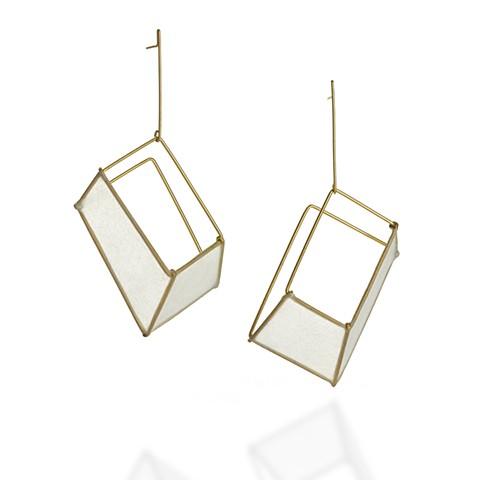 Paper Jewelry, Shift Earrings, Tia Kramer