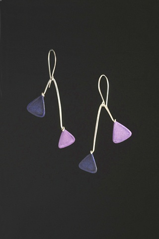 balancing triangle paper earrings