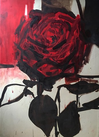 Rose 5'X4' oil' on canvas