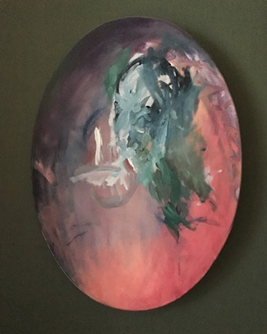 "Untitled  24X18"" oil on canvas (oval)"