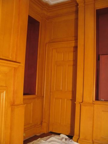 Base coat for mahogany paneling