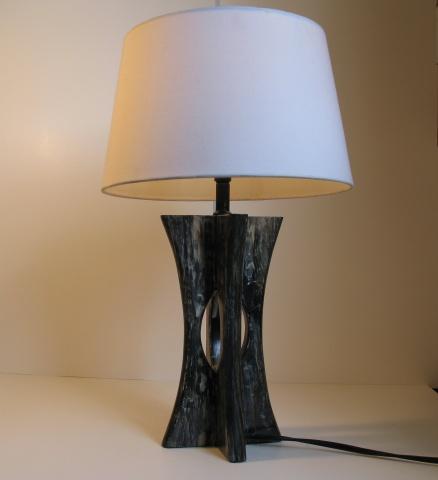 Faux Horn Lamp
