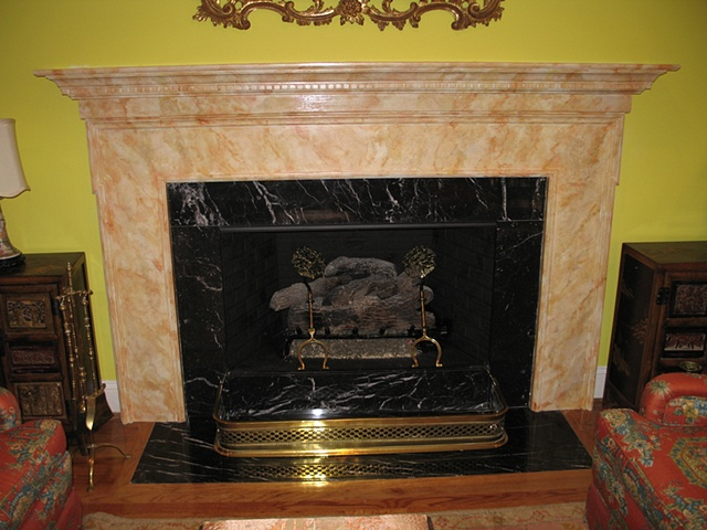 faux marble mantel