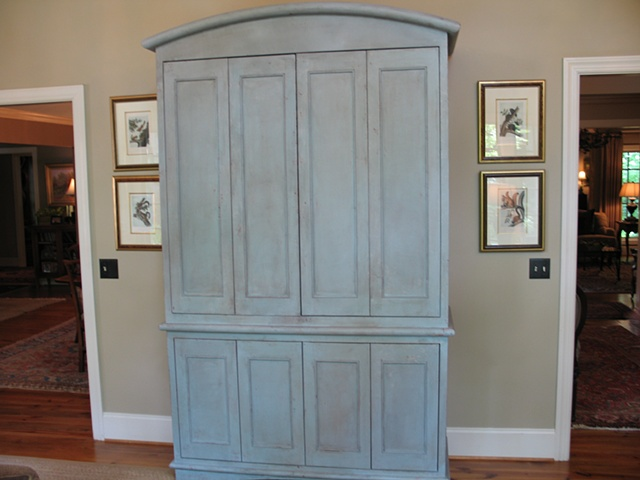 Custom made television cabinet