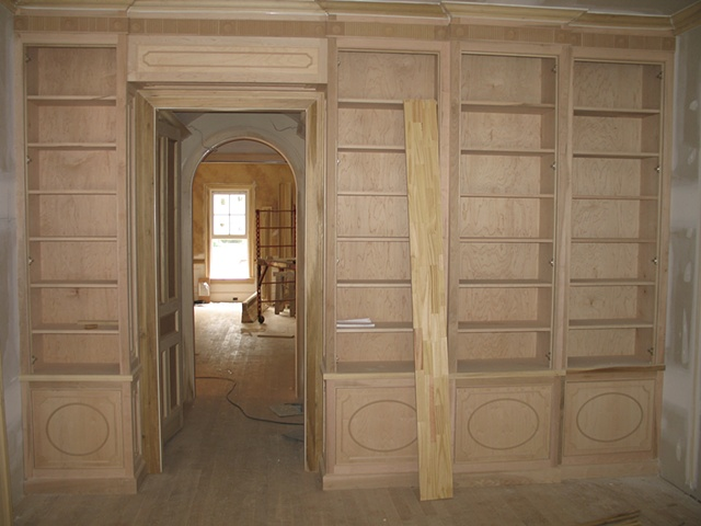 Before picture of room to be painted in a two color glaze finish