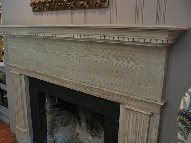 Faux American yellow pine mantle