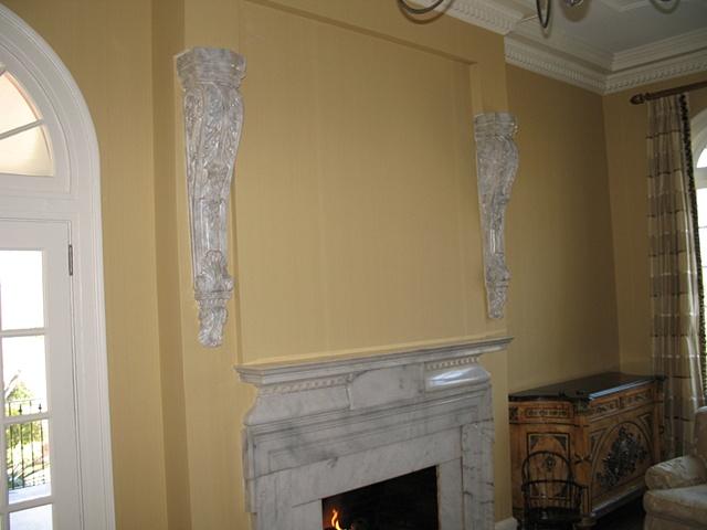 Faux Carrara marble brackets