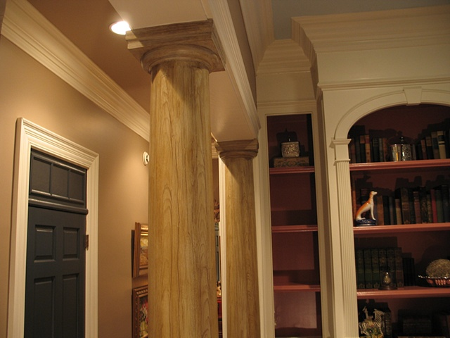 Faux Pine columns