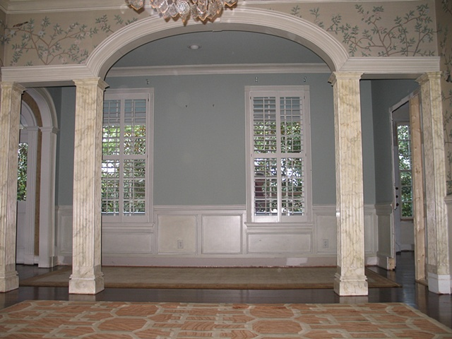 Faux marble piers