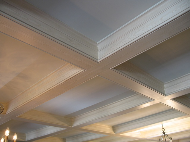 Faux cypress ceiling