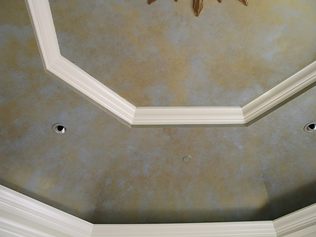 Painted gold ceiling