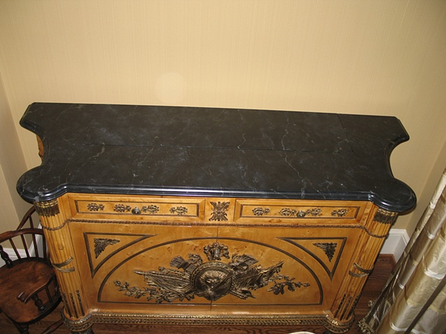 Faux marble cabinet top