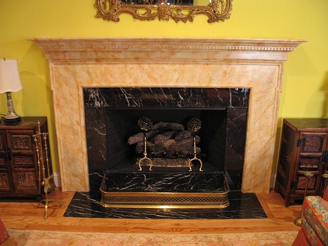 Faux marble mantle