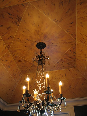 Faux blonde tortoiseshell ceiling