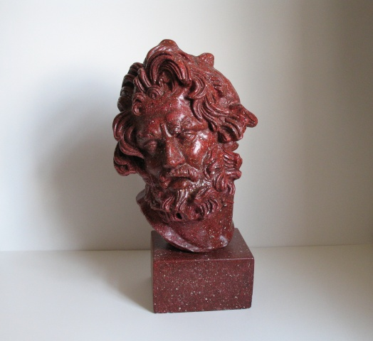 Faux porphyry bust
