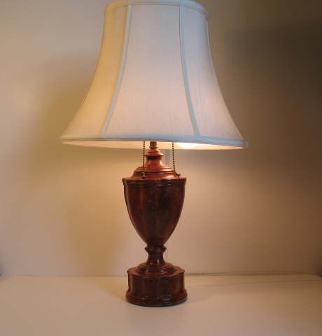 Red marble Lamp