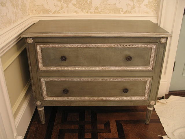 New chest painted, distressed and glazed
