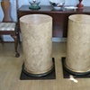 Faux limestone cabinets