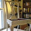 Mahogany dining chair painted and distressed.