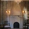 Faux limestone Mantel