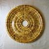 Faux tortoise shell ceiling medallion