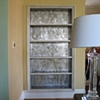 Silver leafed bookcase