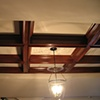 Faux mahogany coffered ceiling