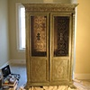 Glazed and distressed antique cabinet