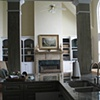 Faux antique pine piers and mantle