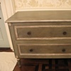 New chest painted, distressed and glazed to look old