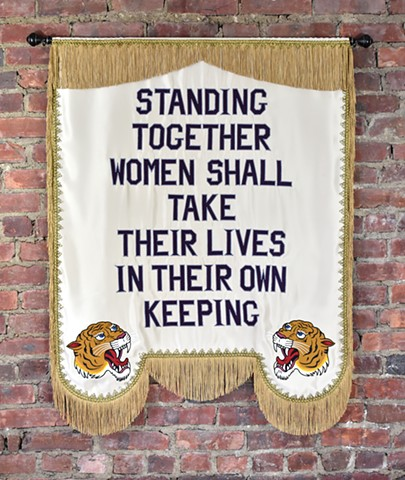 Based off a vintage Suffragette Banner