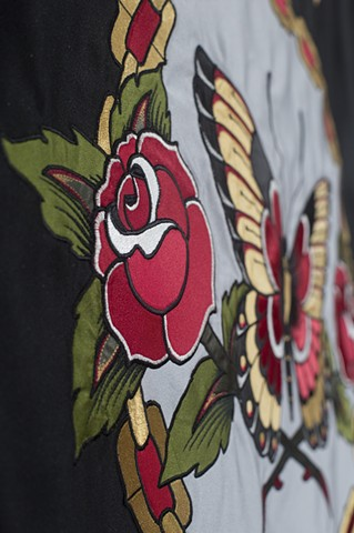 banner tattoo embroidery